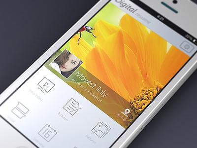 Digital Resume iphone app ui mvben china icon