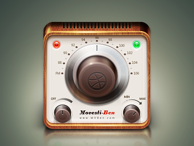 Radio icon ui mvben