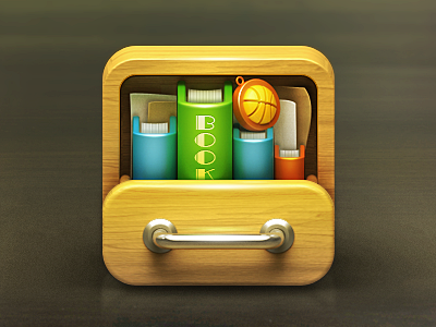 Bookcase iphone app ui mvben china icon themes
