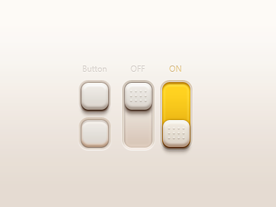 Buttons And Switches(PSD) iphone app ui mvben china icon psd