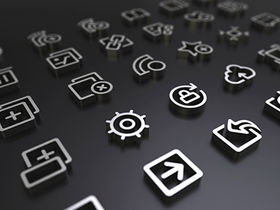 A set of little icons