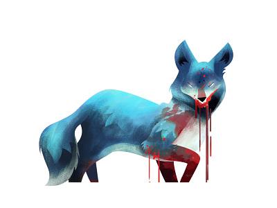 A Coyote Illustration art design photoshop wacom illustration