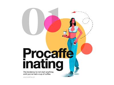 PROCAFFEINATING - ILLUSTRATION wacom adobe illustrator landingpage uidesign illustration photoshop