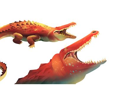 Gustave -The Burundi Monster alligator crocodile illustrator design photoshop art illustration