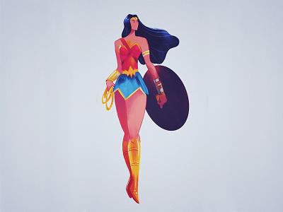 Wonder Woman wonder woman comic illustration fanart dc