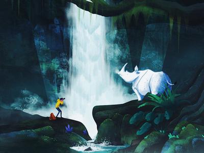 W - Wildlife Waterfall