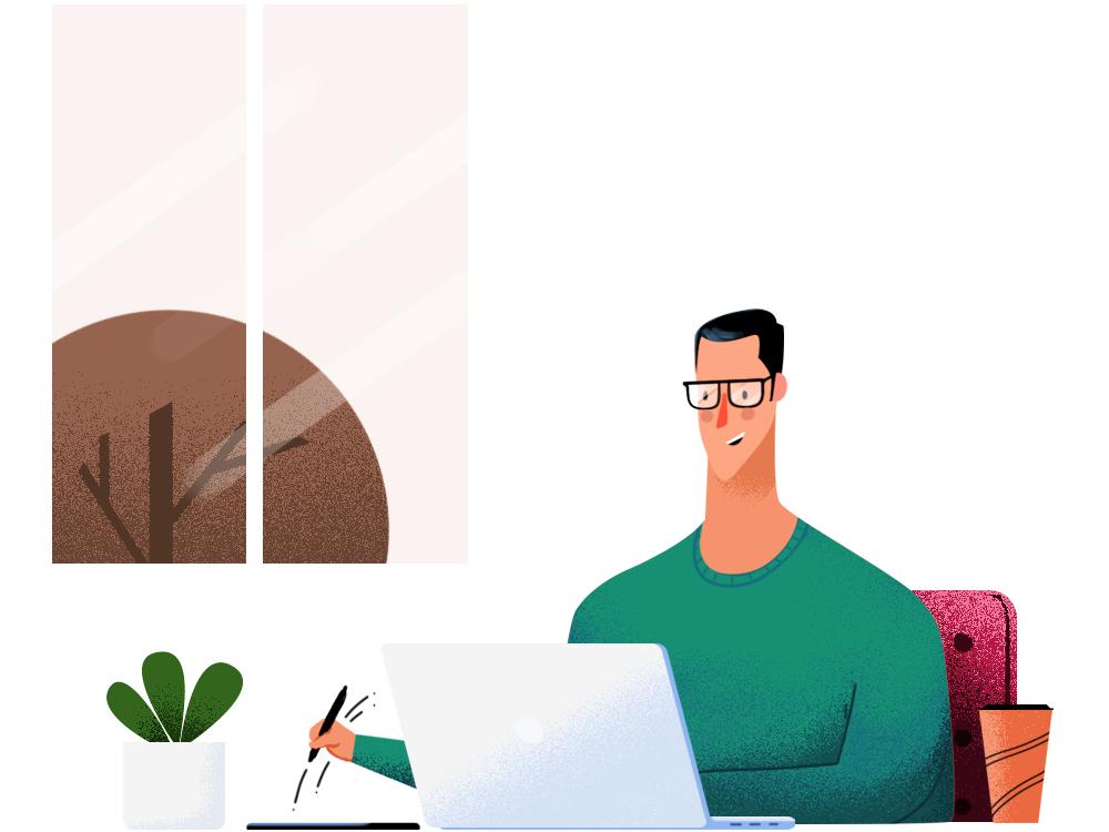 Draw Or Die adobe illustration app life work worklife design sketching drawing wacom apple laptop cup coffee designer artist