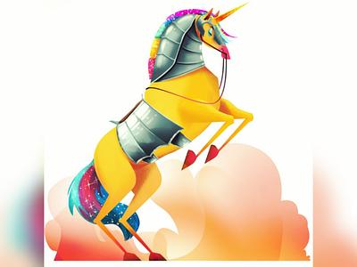 Unicorn animal character horse fantasy illustrator photoshop illustration unicorn