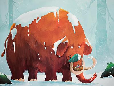 Mammoth mammoth conceptart illustrartion