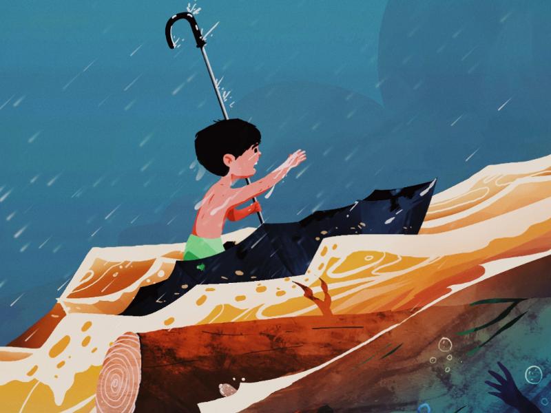 Hope flood illustration photoshop
