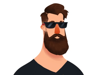 Hipster Life vector art character wacom illustration
