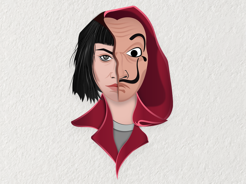 Bella Ciao bellaciao netflix ursulacorbero tokiolacasadepapel alexpina adobeillustrator vector portrait vector illustration landing page vector art character illustration characterdesign money heist la casa de papel illustration
