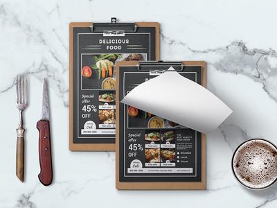 Restaurant Food Menu Card Design