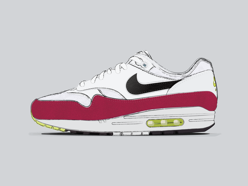 acheter en ligne cbbc4 c4734 Nike Air Max 1 by Yash Choudhary on Dribbble