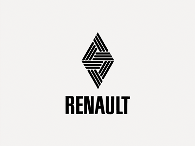 "Renault ""Double Vie"". identity logo brand cars automobiles rhombus laurensvandenacker renault reinastella 2038 doublevie car"