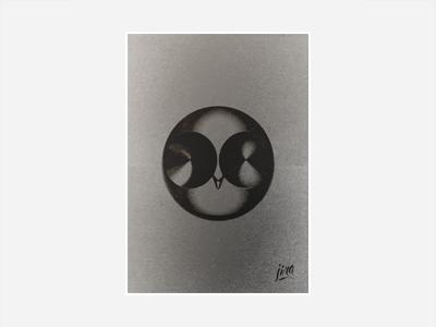 Owl world owl face sculpture poster brancusi style jira ibarrez