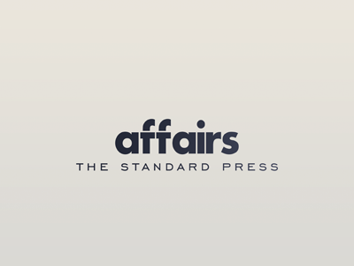 Affairs standard logo press brand identity magazine publishing affairs