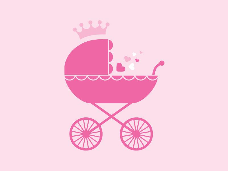 Princess Baby Emma illustration design baby invite