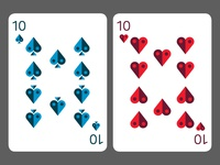 10 of Spades and Hearts