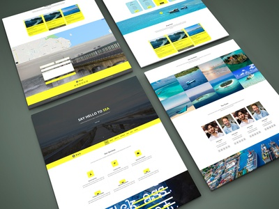Sea One Page Html Template