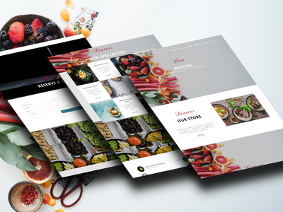 Strawberry Restaurant Free Bootstrap Template interaction design inspiration bootstrap all respontive animation template theme website web ux ui product loading interface illustration design business theme picks themepicks