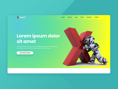 Exclusive IT Landing Page Template business bootstrap all theme picks themepicks website web vector logo design illustration graphic design flat clean branding art app animation ux ui design