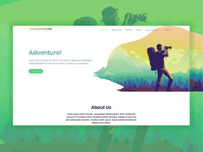 Adventure Sass Bootstrap Template business bootstrap all theme picks themepicks website web vector logo design illustration graphic design flat clean branding art app animation ux ui design