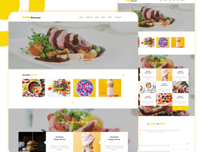 Snaxa Restaurant One Page Template business bootstrap all theme picks themepicks website web vector logo design illustration graphic design flat clean branding art app animation ux ui design