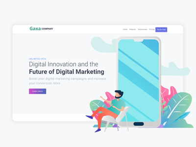 The Gaxa Company Free Html Template business bootstrap all theme picks themepicks website web vector logo design illustration graphic design flat clean branding art app animation ux ui design