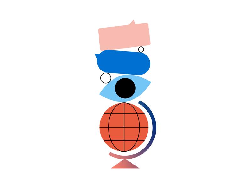 Strategy spot illustration strategy flat minimal illustrator illustration