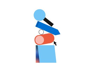 Design Service Offering: Exploration 🔍 mouse service gradient minimal flat postit search illustration illustrator design