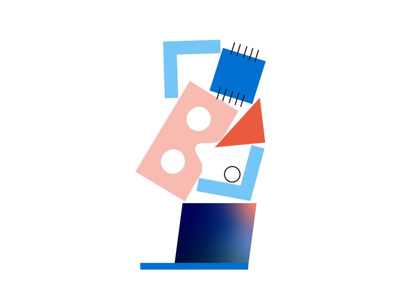 Development Service Offering: Exploration 💻 service code chip virtual reality vr flat minimal illustrator illustration gradient developer development