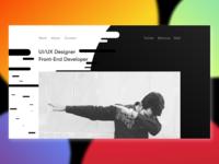 Personal Portfolio Design [B/W]