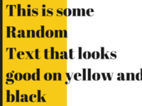 Color Palette #1 - Black & Yellow