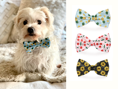 Dog Bow Tie Designs pet apparel accessory design seamless repeat patterns bow tie design dog art fashion design photoshop textile print illustration