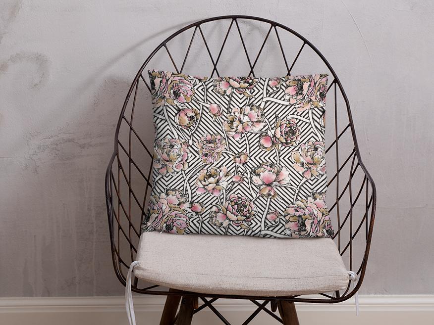 Stripe Floral Textile Print Design vector textile print illustration