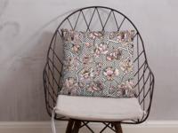Stripe Floral Textile Print Design