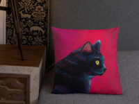 Black Cat Pillow Design