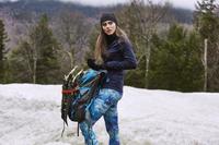 Winter Garden Textile Print Legging Design