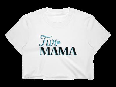 Fur Mama Crop Tee Graphic Design