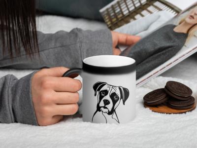 Stencil Boxer Mug Design