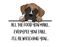 Watching You - Boxer Puppy Graphic Art