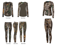 Terramar Womens Camo Tracker Crew And Pant