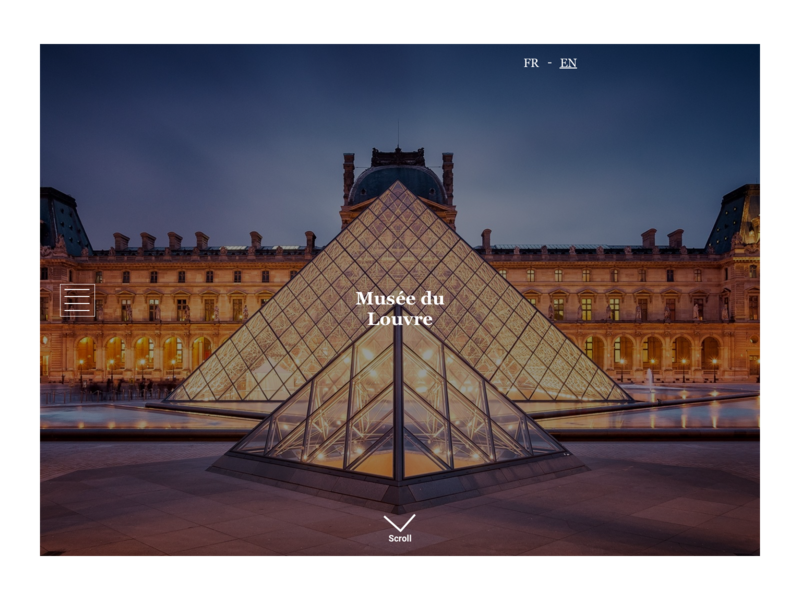 Louvre Redesign art history museum search uxdesign ux uidesigner userinterface uidesign sketch prototype redesign louvre