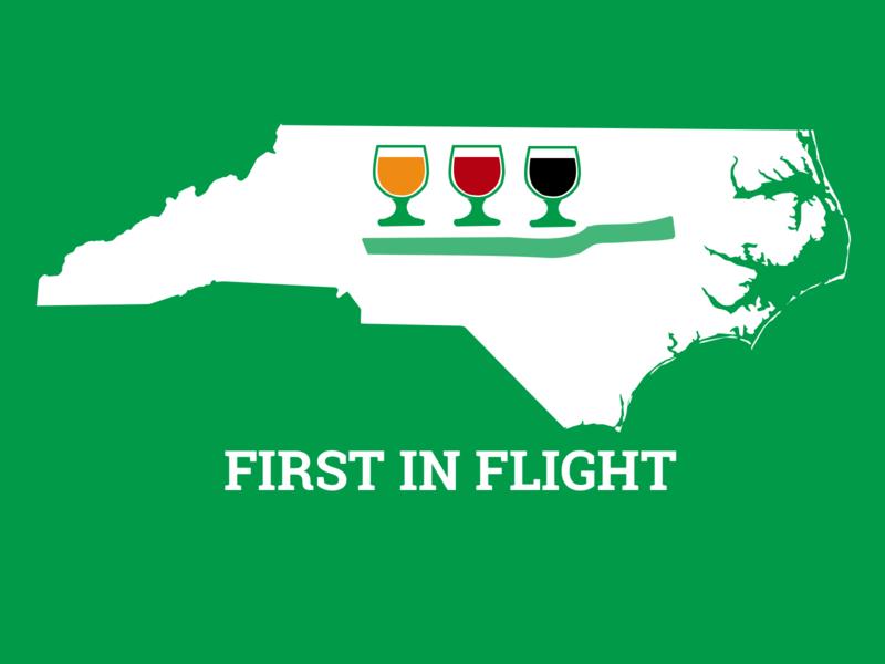 NC Beer Month nc vector sketch tshirt pun graphic design design first in flight beer