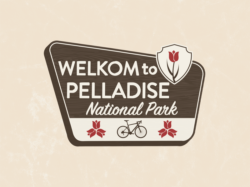 Pelladise National Park Sign icon illustrator adobe illustration cyclist cycling bicycle natural nature sign park sign national park