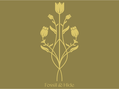 Fossil and Hide Rebranding symmetrical floral flower victorian logo branding vector digital adobe illustrator drawing design illustration