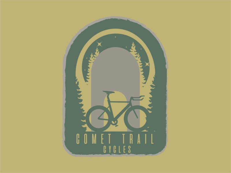 Comet Trail Cycles Logo icon vector design branding logo illustration