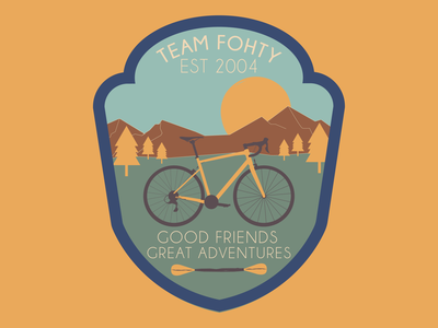 Team Fohty Badge Design