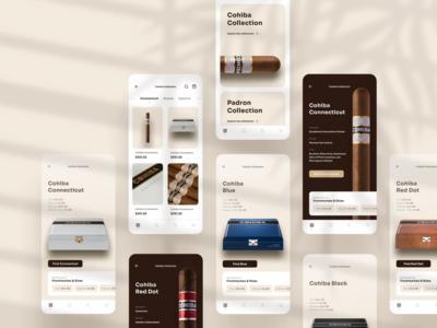 Cigino Cigar App Design cigar mobile logo app design interface ux ui